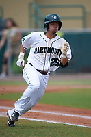 Dartmouth Big Green shortstop Justin Fowler (25) during a game against the South Florida Bulls on March 27, 2016 at USF Baseball Stadium in Tampa, Florida.  South Florida defeated Dartmouth 4-0.  (Mike Janes/Four Seam Images)