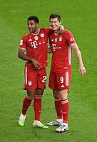 v. l. Serge Gnabry (FC Bayern Muenchen), Robert Lewandowski (FC Bayern Muenchen) celebrate the goal, Der Torjubel zum 0:3<br /> <br /> Fussball, Herren, Saison 2019/2020, 77. Finale um den DFB-Pokal in Berlin, Bayer 04 Leverkusen - FC Bayern München, 04.07. 2020, Foto: Matthias Koch/POOL/Marc Schueler/Sportpics.de
