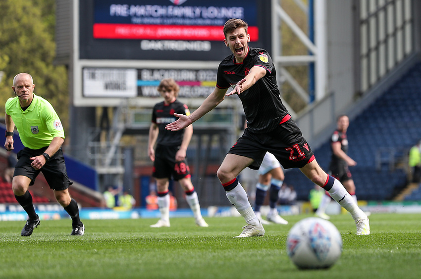 Bolton Wanderers' Joe Williams <br /> <br /> Photographer Andrew Kearns/CameraSport<br /> <br /> The EFL Sky Bet Championship - Blackburn Rovers v Bolton Wanderers - Monday 22nd April 2019 - Ewood Park - Blackburn<br /> <br /> World Copyright © 2019 CameraSport. All rights reserved. 43 Linden Ave. Countesthorpe. Leicester. England. LE8 5PG - Tel: +44 (0) 116 277 4147 - admin@camerasport.com - www.camerasport.com