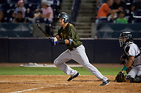 Tampa Tarpons Diego Castillo (2) at bat during a Florida State League game against the Daytona Tortugas on May 18, 2019 at George M. Steinbrenner Field in Tampa, Florida.  Daytona defeated Tampa 7-6.  (Mike Janes/Four Seam Images)