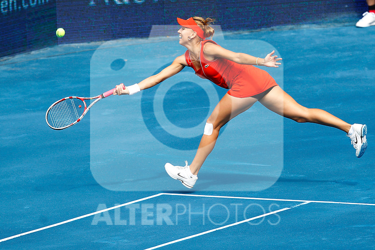 Elena Vesnina (RUS) during Mutua Madrid Open 2012 match on may 7th 2012...Photo: Cesar Cebolla / ALFAQUI