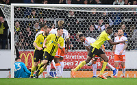 Burton Albion's Lucas Akins celebrates scoring his side's third goal <br /> <br /> Photographer Chris Vaughan/CameraSport<br /> <br /> The EFL Sky Bet League One - Burton Albion v Blackpool - Saturday 16th March 2019 - Pirelli Stadium - Burton upon Trent<br /> <br /> World Copyright &copy; 2019 CameraSport. All rights reserved. 43 Linden Ave. Countesthorpe. Leicester. England. LE8 5PG - Tel: +44 (0) 116 277 4147 - admin@camerasport.com - www.camerasport.com