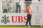 Pavit Tangkamolprasert of Thailand tees off the first hole during the 58th UBS Hong Kong Golf Open as part of the European Tour on 10 December 2016, at the Hong Kong Golf Club, Fanling, Hong Kong, China. Photo by Marcio Rodrigo Machado / Power Sport Images