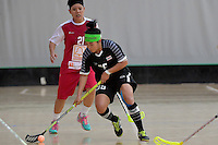 Thailand&rsquo;s Kanya Jantapet in action during the World Floorball Championships 2017 Qualification for Asia Oceania Region - Singapore v Thailand at ASB Sports Centre , Wellington, New Zealand on Sunday 5 February 2017.<br /> Photo by Masanori Udagawa<br /> www.photowellington.photoshelter.com.