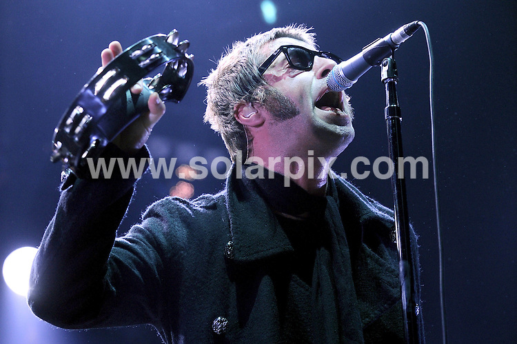 **ALL ROUND PICTURES FROM SOLARPIX.COM**.**WORLDWIDE SYNDICATION RIGHTS EXCLUDING UK & ITALY - NO PUBLICATION IN UK OR ITALY**.Oasis perform live at Assago Forum, Milan, Italy. 02 February 2009..This pic: Liam Gallagher..JOB REF: 8922 MXN       DATE: 02_02_2009.**MUST CREDIT SOLARPIX.COM OR DOUBLE FEE WILL BE CHARGED**.**ONLINE USAGE FEE GBP 50.00 PER PICTURE - NOTIFICATION OF USAGE TO PHOTO @ SOLARPIX.COM**.**CALL SOLARPIX : +34 952 811 768 or LOW RATE FROM UK 0844 617 7637**