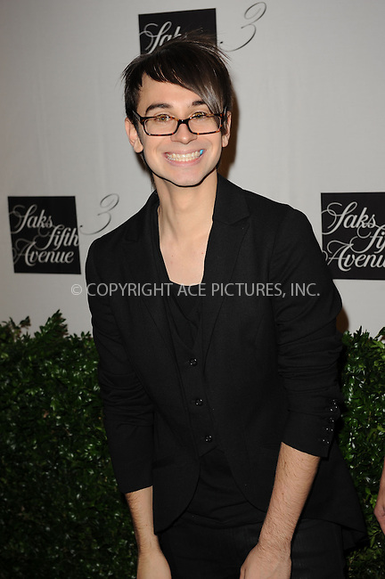 WWW.ACEPIXS.COM . . . . . ....September 9 2009, New York City....Designer Christian Siriano at the unveiling of the new third floor at Saks Fifth Avenue on September 9, 2009 in New York City. ....Please byline: KRISTIN CALLAHAN - ACEPIXS.COM.. . . . . . ..Ace Pictures, Inc:  ..tel: (212) 243 8787 or (646) 769 0430..e-mail: info@acepixs.com..web: http://www.acepixs.com