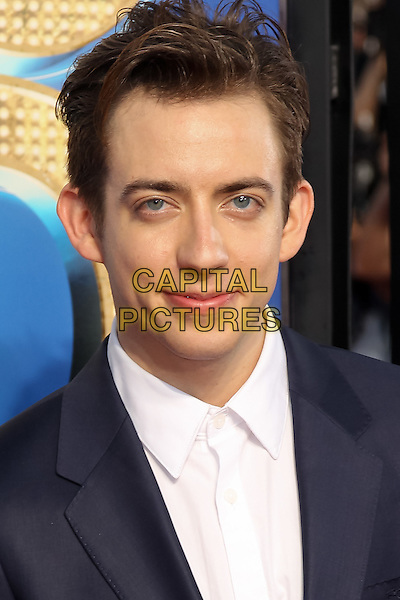 KEVIN MCHALE.The 20th Century Fox 'Glee 3D' Concert World Movie Premiere held at The Regency Village theatre in Westwood, California, USA,.August 6th 2011..headshot portrait white shirt blue suit  .CAP/CEL.©CEL/Capital Pictures
