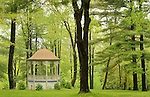 Eagles Mere, PA. Park Gazebo in Spring.
