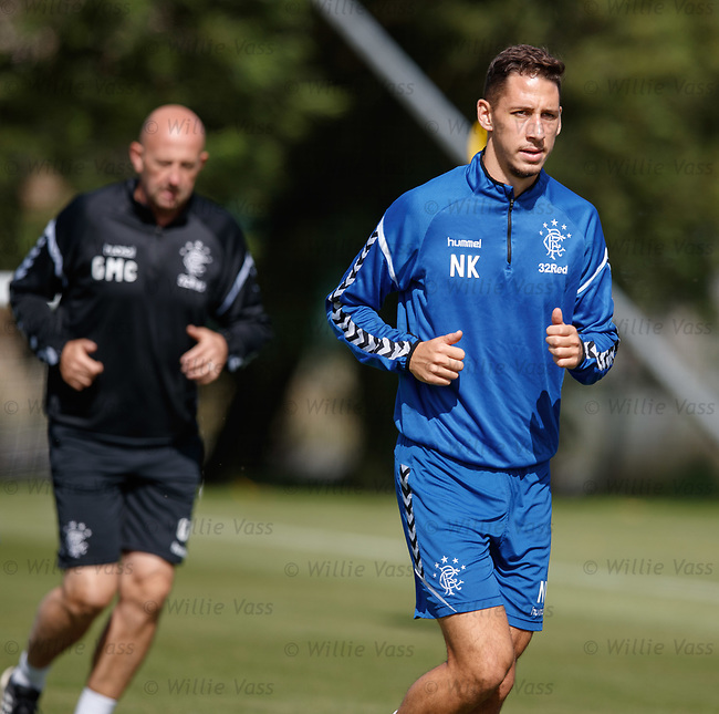 10.08.18 Rangers training: Nikola Katic