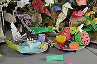 New York, NY, USA - November 17, 2017: OrigamiUSA 2017 Holiday Tree at the American Museum of Natural History - design and set up period.