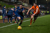 27th December 2019; Dens Park, Dundee, Scotland; Scottish Championship Football, Dundee Football Club versus Dundee United; Cammy Kerr of Dundee goes past Louis Appere of Dundee United  - Editorial Use