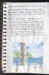 Sucia Island, watercolor, Journal Art 2005, September 14, 2005