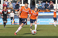 Jonathan Smith of Luton Town during the Sky Bet League 2 match between Luton Town and Crawley Town at Kenilworth Road, Luton, England on 12 March 2016. Photo by David Horn/PRiME Media Images.