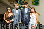 Enjoying the Mercy Mounthawk Debs in the Ballyroe Heights Hotel on Thursday night. L-r, Tajana Miletic, Andrew Tees, Gary Clifford and Leah Brown.