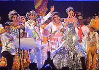 BARRANQUILLA-COLOMBIA- 22-01-2017. Con la Lectura del Bando, la Reina del Carnaval de Barranquilla 2017, Stephanie Mendoza Vargas, comenzó a mandar desde la noche de este sábado, tras un soberbio espectáculo dancístico musical. El evento se realizó en la Plaza de La Paz. / With Reading Bando, the Barranquilla Carnival Queen 2017, Stephanie Mendoza Vargas, began to command from this Saturday night after a superb show's dance musical. The event was held at the Plaza de La Paz en Barranquilla, Colombia. Photo: VizzorImage / Alfonso Cervantes / Cont.