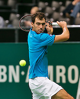 11-02-14, Netherlands,Rotterdam,Ahoy, ABNAMROWTT, Jerzy Janowicz (POL) in his match again JulienBenneteau (FRA)<br /> Photo:Tennisimages/Henk Koster