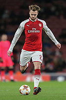 Calum Chambers of Arsenal during the UEFA Europa League match between Arsenal and FC BATE Borisov  at the Emirates Stadium, London, England on 7 December 2017. Photo by David Horn.