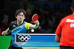 Koki Niwa (JPN), <br /> AUGUST 9, 2016 - Table Tennis : <br /> Men's Singles Quarter-final <br /> at Riocentro - Pavilion 3 <br /> during the Rio 2016 Olympic Games in Rio de Janeiro, Brazil. <br /> (Photo by Yohei Osada/AFLO SPORT)