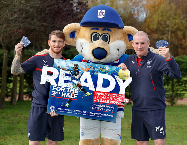 Joe Garner and Mark Warburton promote the family section half season tickets offer