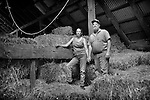 Farmers Les and Tammy Kirby, in a hayloft at their farm in Middletown, New York