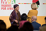 Ellen Johnson-Sirleaf and Maria Teresa Fernandez de la Vega attends the annual meeting of the Board of the Foundation for African women in Madrid, November 16, 2015.<br /> (ALTERPHOTOS/BorjaB.Hojas)