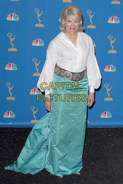 CANDICE BERGEN.58th Annual Primetime Emmy Awards held at the Shrine Auditorium, Los Angeles, California, USA..August 27th, 2006.Ref: ADM/CH.full length turquoise blue skirt silver belt white shirt.www.capitalpictures.com.sales@capitalpictures.com.©Charles Harris/AdMedia/Capital Pictures.