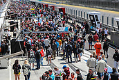June 17th 2017, Hunaroring, Budapest, Hungary; DTM Motor racing series; Fans flood the pit area