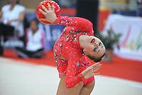 Anna Alyabyeva of Kazakhstan performs  at 2010 Grand Prix Marbella at San Pedro Alcantara, Spain on May 15, 2010. Anna placed 6th AA at Marbella 2010. (Photo by Tom Theobald).