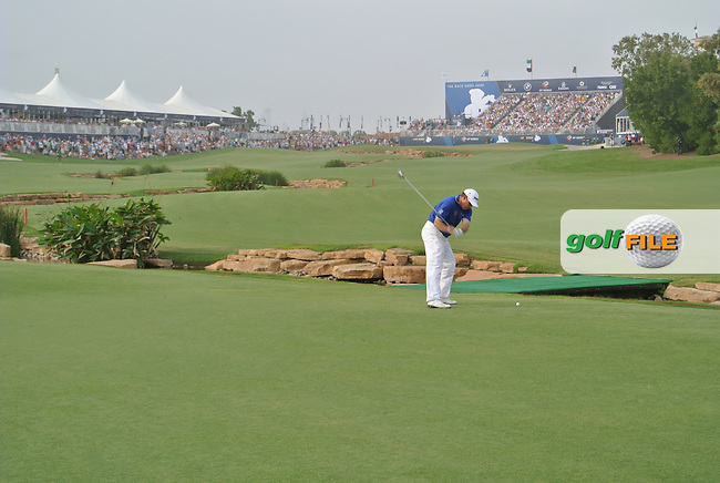Lee Westwood (ENG) during round 4 of the season ending DP World, Tour Championship, Dubai, UAE.<br /> Picture: Fran Caffrey www.golffile.ie