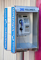 Public Pay Phone Still in Use in 2012, Playa del Carmen, Riviera Maya, Yucatan, Mexico.