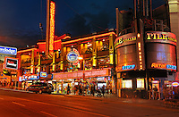 Night scene of Clifton Hill<br /> Niagara Falls<br /> Ontario<br /> Canada