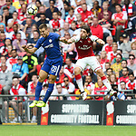 Cesar Azpilicueta of Chelsea and Hector Bellerin of Arsenal during the The FA Community Shield match at Wembley Stadium, London. Picture date 6th August 2017. Picture credit should read: Charlie Forgham-Bailey/Sportimage