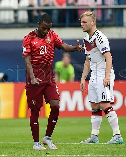 27.06.2015. Andruv Stadium, Olomouc, Czech Republic. U21 European championships, semi-final. Portugal versus Germany.  Ricardo (Portugal) celebrates the goal for 2:0