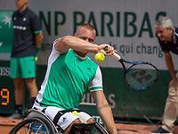 Paris, France, 7 June, 2017, Tennis, French Open, Roland Garros,  Wheelchair men, Maikel Scheffers (NED)<br /> Photo: Henk Koster/tennisimages.com