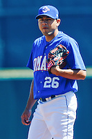 Federico Castaneda May 5th, 2010; Oklahoma CIty Redhawks vs Omaha Royals at historic Rosenblatt Stadium in Omaha Nebraska.  Photo by: William Purnell/Four Seam Images