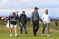 Padraig Harrington (IRL) and  Matthew Fitzpatrick (ENG) on the 16th during Round 3 of the Alfred Dunhill Links Championship 2019 at St. Andrews Golf CLub, Fife, Scotland. 28/09/2019.<br /> Picture Thos Caffrey / Golffile.ie<br /> <br /> All photo usage must carry mandatory copyright credit (© Golffile | Thos Caffrey)