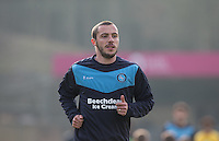 Michael Harriman of Wycombe Wanderers during the Sky Bet League 2 match between Wycombe Wanderers and Stevenage at Adams Park, High Wycombe, England on 12 March 2016. Photo by Andy Rowland/PRiME Media Images.