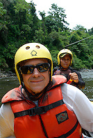 Happy rafters on the Chiriqui Viejo River, Panama