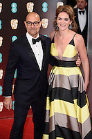 Stanley Tucci and wife, Felicity Blunt<br /> at the 2017 BAFTA Film Awards held at The Royal Albert Hall, London.<br /> <br /> <br /> &copy;Ash Knotek  D3225  12/02/2017