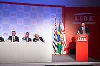 """SAO PAULO. SP. 23 DE ABRIL DE 2013 - SEMINARIO LIDE COM FERNANDO HADDAD. O prefeito de São Paulo, Fernando Haddad, participa do seminário  """" Um novo posicionamento na Gestão da Cidade de São Paulo"""" organizado pelo LIDE - Grupo de Lideres Empresariais. na manhã desta terça feira na zona sul da capital paulista. FOTO ADRIANA SPACA/BRAZIL PHOTO PRESS"""