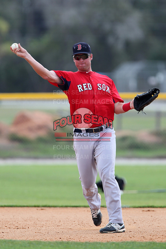 63dcb8b920f Boston Red Sox David Chester  20 during a minor league spring training game  against the