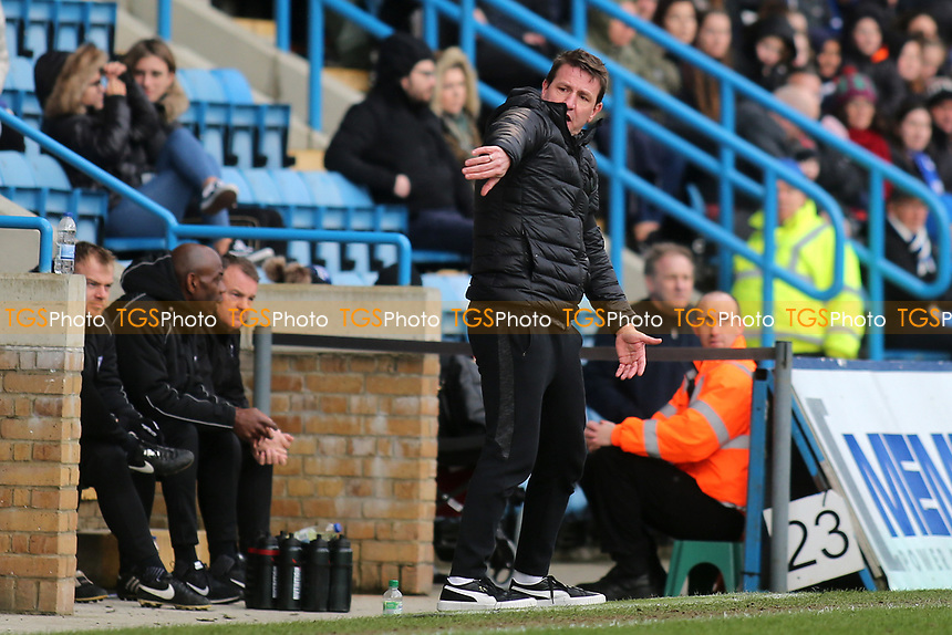 Barnsley Manager, Daniel Stendel during Gillingham vs Barnsley, Sky Bet EFL League 1 Football at The Medway Priestfield Stadium on 9th February 2019