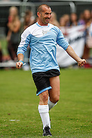 London, UK on Sunday 31st August, 2014. Louie Spence during the Soccer Six charity celebrity football tournament at Mile End Stadium, London.