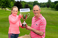 Eddie McCormack (Galway Bay) winner with daughter Aoife after the final of the 2018 Connacht Stroke Play Championship, Portumna Golf Club, Portumna, Co Galway.  10/06/2018.<br /> Picture: Golffile | Fran Caffrey<br /> <br /> <br /> All photo usage must carry mandatory copyright credit (&copy; Golffile | Fran Caffrey)