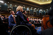 FEBRUARY 5, 2019 - WASHINGTON, DC: Education Secretary Betsy Devos and other members of the cabinet during the State of the Union address at the Capitol in Washington, DC on February 5, 2019.<br /> Credit: Doug Mills / Pool, via CNP