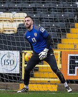 Goalkeeper Scott Loach of Notts Co before the Sky Bet League 2 match between Notts County and Wycombe Wanderers at Meadow Lane, Nottingham, England on 10 December 2016. Photo by Andy Rowland.
