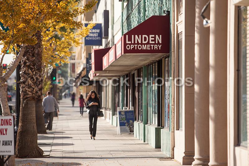 Shopping on Colorado Boulevard in Pasadena California