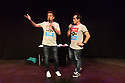 Underbelly Press Launch at the Edinburgh Festival Fringe. Underbelly presents a showcase of a number of productions and acts to launch their Fringe 2018, in the upturned purple cow, George Square, Edinburgh. Picture shows: Dick and Dom.