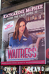 Times Square Billboard for Katharine McPhee starring in 'Waitress' at the Brooke Atkinson Theatre on April 10, 2018 in New York City.