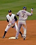 9 September 2006: Jamey Carroll, second baseman for the Colorado Rockies, in action against the Washington Nationals. The Rockies defeated the Nationals 9-5 at Coors Field in Denver, Colorado.&amp;#xA;&amp;#xA;Mandatory Photo Credit: Ed Wolfstein.<br />